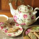 GORGEOUS CHINTZ  ROSES TEA CUP/SAUCER SET,SO CHIC!