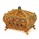 STUNNING VINTAGE STYLE LADY MARIA JEWELS ACCENT BOX,9.5'' X 6.5'' X 9''H.