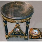 GORGEOUS LOUIS PHILIPPE MARBLE TOP ,GILT SIDE TABLE,21''DIA X 26''TALL.