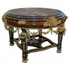 MAGNIFICENT ELEGANT FRENCH GILT CARVED ROUND FOYER,ENTRY TABLE,50''DIAMETER.