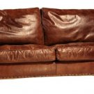 AWESOME HIGH GRADE LEATHER MARLBORO SOFA,77.5''WIDE.