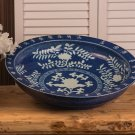 FABULOUS ANTIQUE STYLE COBALT CHINESE PORCELAIN BOWL,17''DIAMETER.