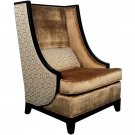 ELEGANT HIGH BACK ACCENT CHAIR,34'' X 34'' X 48''H.