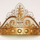 AWESOME,CHIC GOLD CROWN IRON DRAPE TESTER,25''W X 17.5''TALL.