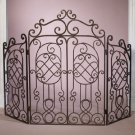 AWESOME GATED BRONZE IRON FIRESCREEN,39''TALL.