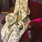 GORGEOUS 100% COTTON FLORAL CHINTZ QUILT BLANKET/THROW,78'' X 86''
