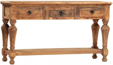 STUNNING LARGE VINTAGE STYLE TIAGO CONSOLE TABLE,71''WIDE X 20'' X 39''H.