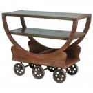 AWESOME IRON WHEELED INDUSTRIAL CART,48'' X 20'' X 42''TALL.