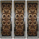 STUNNING  LARGE ARTISTIC MOSAIC HORCHATA WALL PANELS,SET OF THREE!