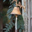 ADORABLE CAST IRON RUSTIC BIRD DOOR BELL ,5'' X 6''H.
