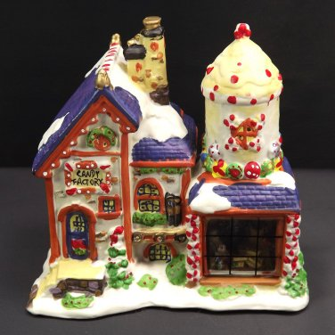 Candy Factory Christmas Village Store Collection Vintage Display Window Ceramic