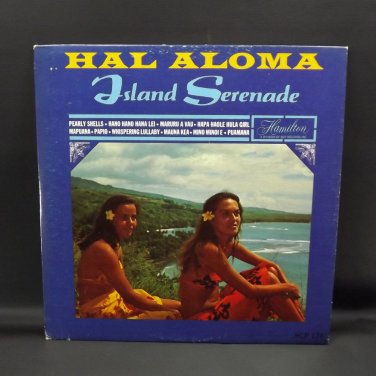 "Hal Aloma Island Serenade 12"" Hawaiian LP Record Album Vintage 1966 Dot Records"