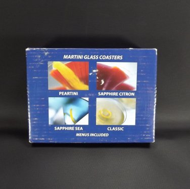 Holland American Cruise Line Memorabilia Set Coasters Vintage Glass Martini