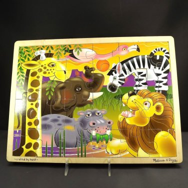 Melissa & Doug African Plains 24Piece Wooden Jigsaw Puzzle Ages 3 Up Fresh Start