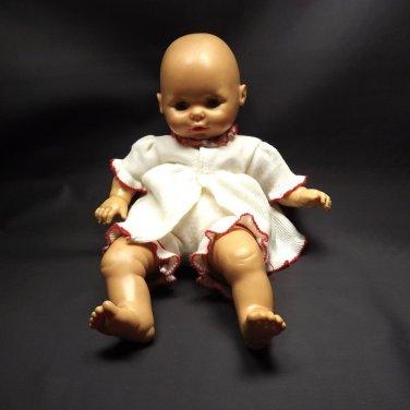 """Vintage Horsman Baby Doll 1984 Sleepy Eyes Vinyl 21"""" Cloth Body"""