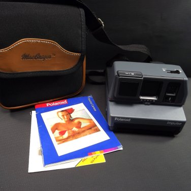 Vintage Polaroid Impulse Flash Instant Camera with Carrying Case Tested Working