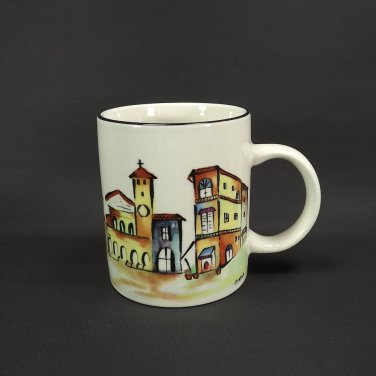 Majesticware Italia Coffee Mug Casual Settings Stoneware Majolica Village Italy