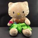 "Hello Kitty Plush 18""Saniro Beige Hawaiian Dressed Stuffed Doll Anime Hula Aloha"