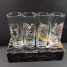 Ed Hardy Tall Shooters Set 4 Bar Shot Glasses 2 Fluid Oz. Tattoo Graphic Design