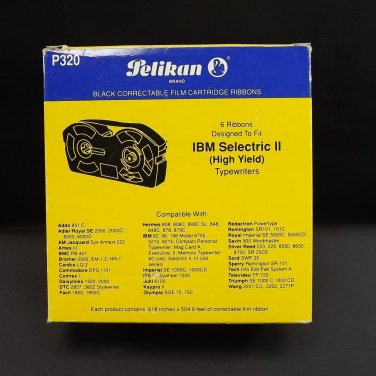 Typewriter Supplies IBM Selectric HY Black Correctable Film Cartridge P320