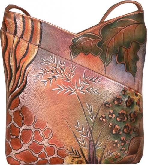 AN354P - Italian Hand-Painted Leather Handbag