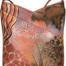 AN354P - Italian Hand-Painted Leather Handbag