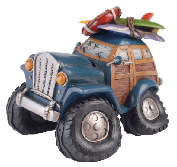 CB086 - Summer Lovin Beach Car Piggy Bank