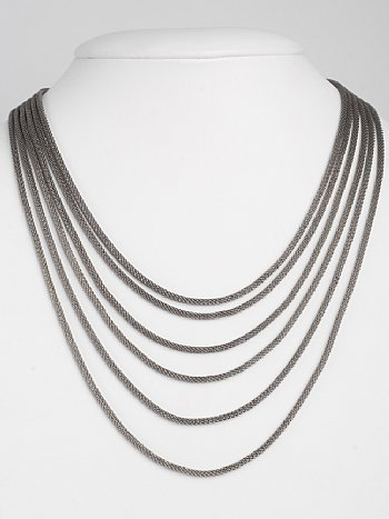 FJN-749 - 6-Strand Mesh Rope Necklace