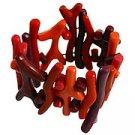 Coral Like Bracelet - Red