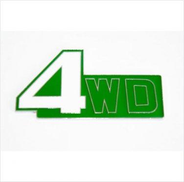 4WD Metal Car Badge / Adhesive Badge Sticker Decor Green