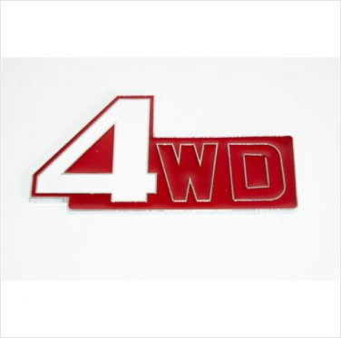4WD Metal Car Badge / Adhesive Badge Sticker Decor Red
