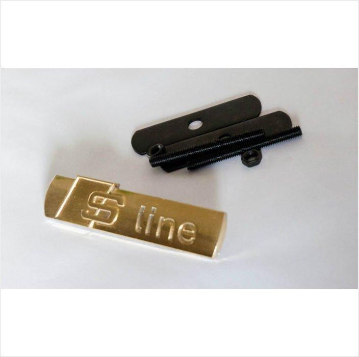 AUDI S Line 24K Gold Plated Metal 3D Grill Badge Emblem