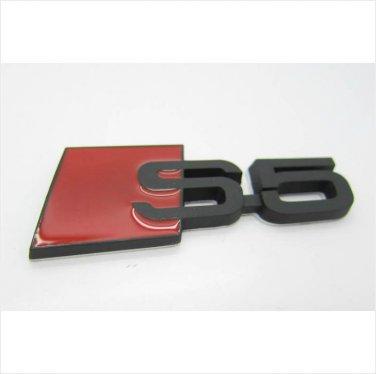 AUDI S5 Metal 3D Badge Emblem Sticker / Black