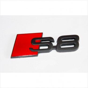 AUDI S8 Metal 3D Badge Emblem Sticker / Black