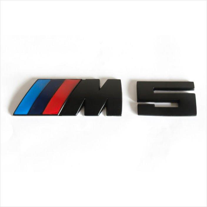 BMW ///M5 Black Blue Metal 3D Rear Badge / Emblem Sticker