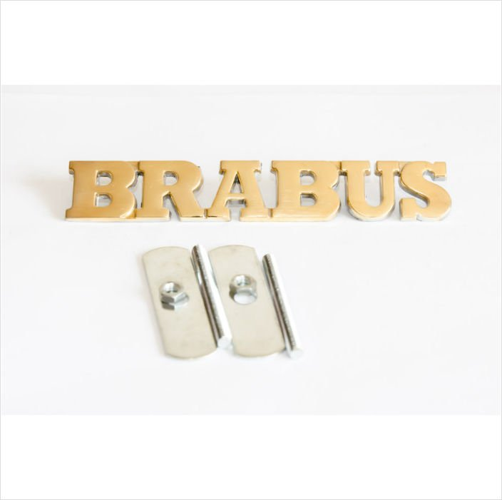 BRABUS 24k Gold Plated 3D Grill Badge / Emblem Sticker