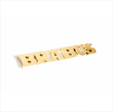 BRABUS 24k Gold Plated 3D Rear Badge / Emblem Sticker