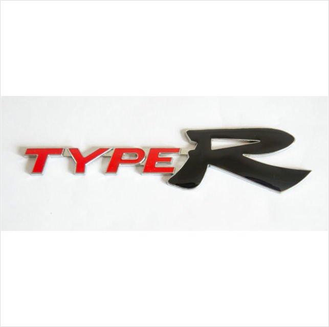 HONDA TYPE R Metal 3D Rear Badge Emblem Sticker RED / BLACK