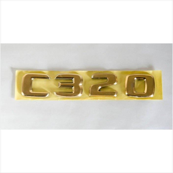 MERCEDES BENZ AMG C320 24K Gold Plated Trunk Rear Emblem Badge