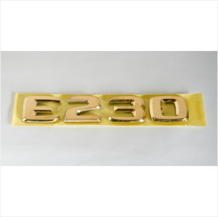 MERCEDES BENZ AMG E230 24K Gold Plated Trunk Rear Emblem Badge