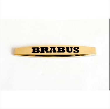 MERCEDES BRABUS 24K Gold Plated METAL BADGE EMBLEM STICKER