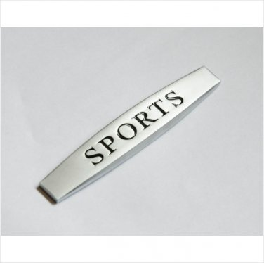MERCEDES SPORTS Silver METAL BADGE EMBLEM STICKER