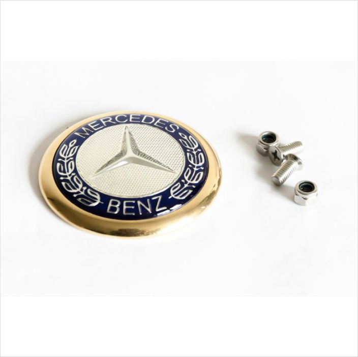 MERCEDES-BENZ 24K Gold Plated Rear Trunk Emblem 62mm
