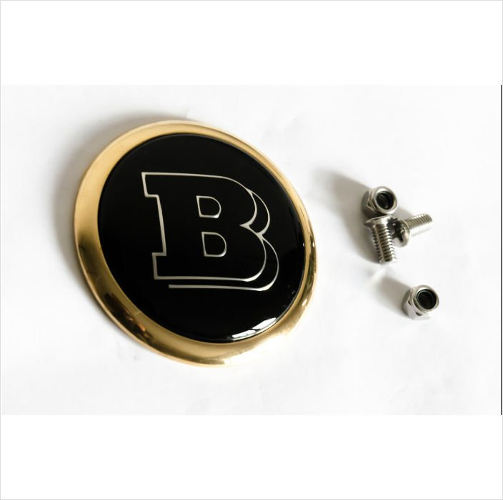 MERCEDES-BRABUS 24K Gold Plated Rear Trunk Emblem 62mm