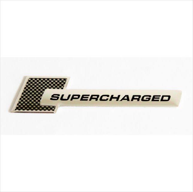 SUPERCHARGED Aluminium 3D Car Badge Carbon Fiber