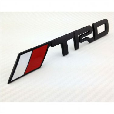 Toyota TRD Black Metal 3D Badge / Emblem Sticker