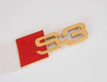AUDI S3 24K Gold Plated Metal 3D Badge Emblem / Sticker