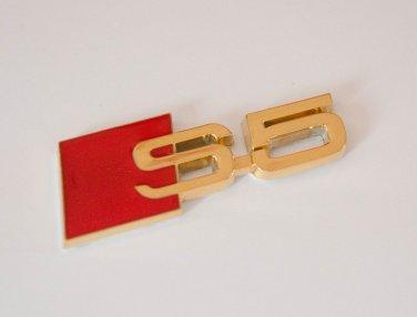 AUDI S5 24K Gold Plated Metal 3D Badge Emblem / Sticker