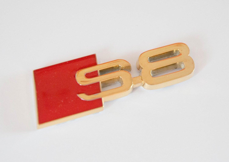 AUDI S8 24K Gold Plated Metal 3D Badge Emblem / Sticker