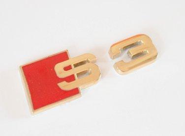AUDI S3 24K Gold Plated Metal 3D Badge Emblem Sticker